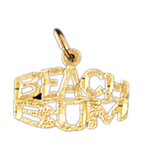 14k Yellow Gold Beach Bum Charm