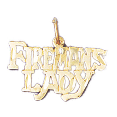 14k Yellow Gold Fireman's Lady Charm