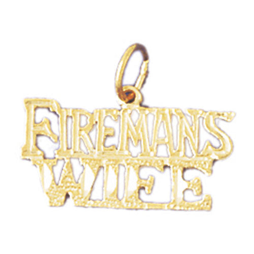 14k Yellow Gold Fireman's Wife Charm