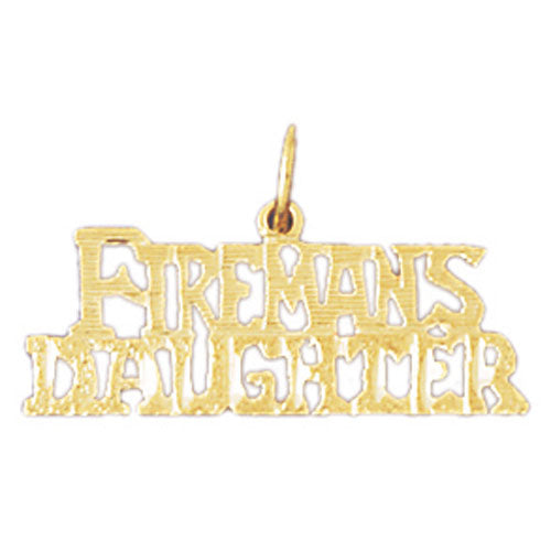 14k Yellow Gold Fireman's Daughter Charm