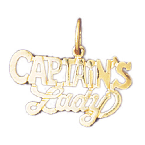 14k Yellow Gold Captain's Lady Charm