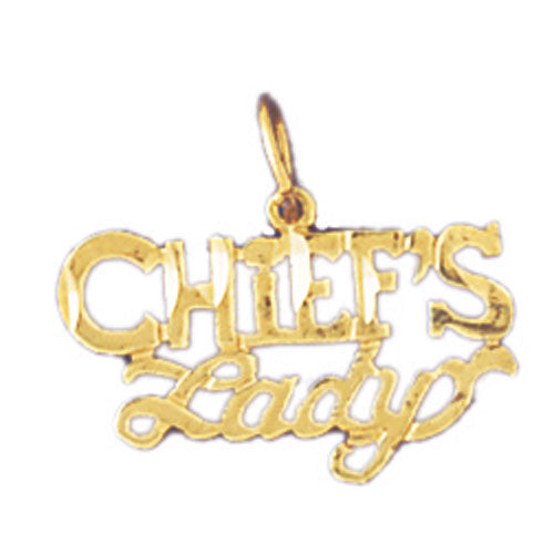 14k Yellow Gold Chief's lady Charm
