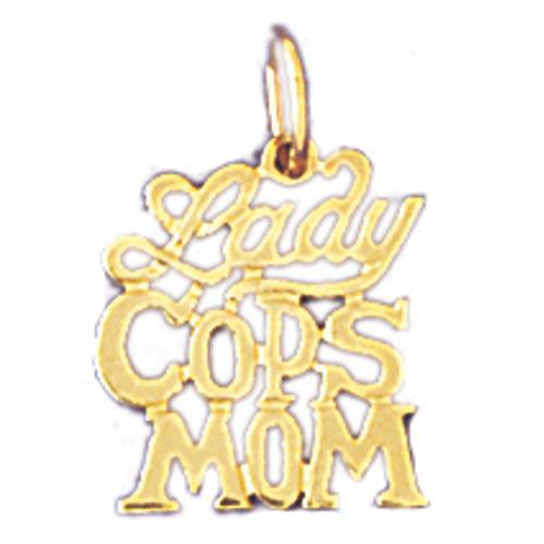 14k Yellow Gold Lady Cop's Mom Charm