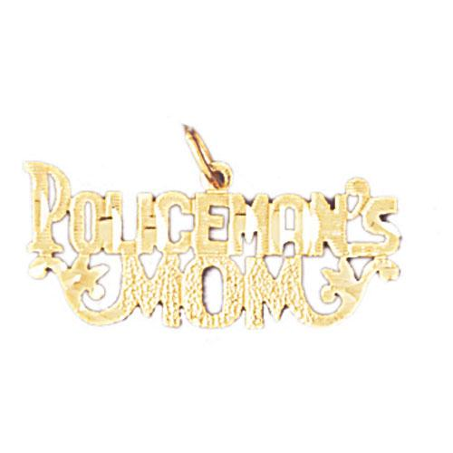 14k Yellow Gold Policeman's Mom Charm