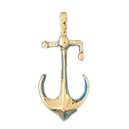 14k Yellow Gold Anchor Charm
