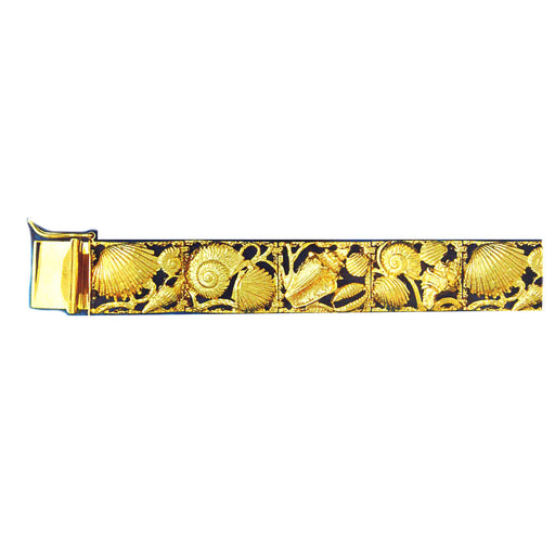 14k Yellow Gold Shell Bracelet with safety clasp
