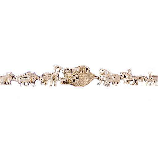 14k Yellow Gold Noah's Ark Bracelet