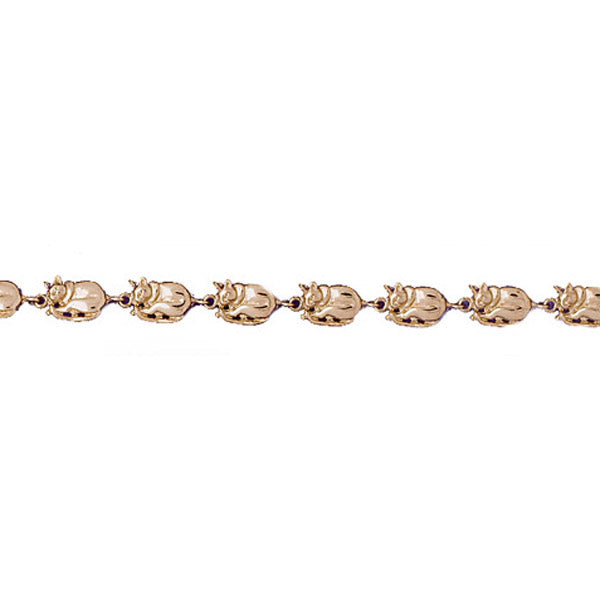 14k Yellow Gold Cat Bracelet