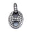 Sterling Silver and micro-pave CZ Link pendant