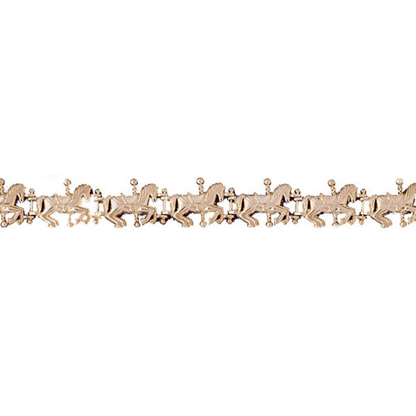 14k Yellow Gold Horse Bracelet