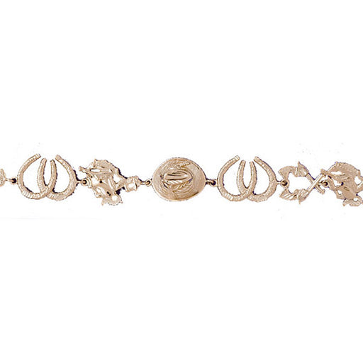 14k Yellow Gold Assorted Horse Bracelet