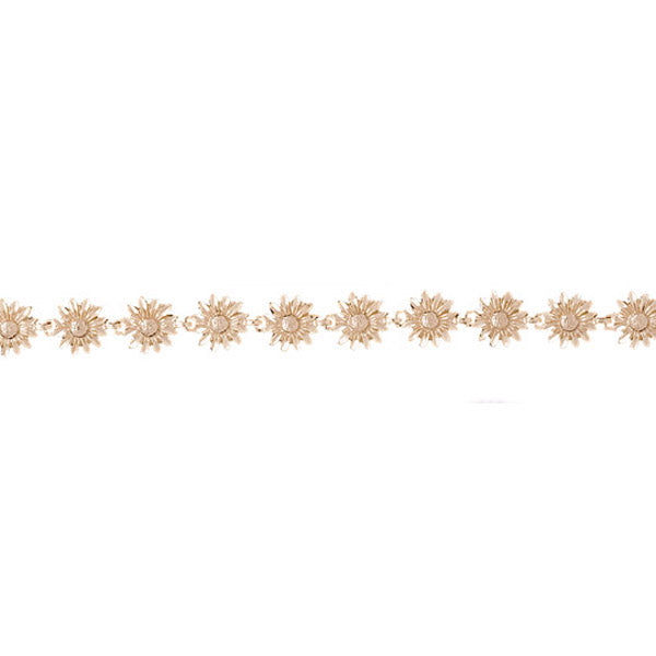 14k Yellow Gold Flower Bracelet