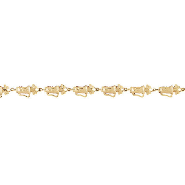 14k Yellow Gold Golf Bracelet