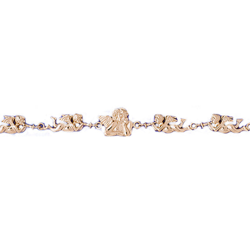 14k Yellow Gold Angel Bracelet
