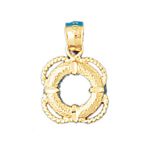 14k Yellow Gold Life Saver Charm