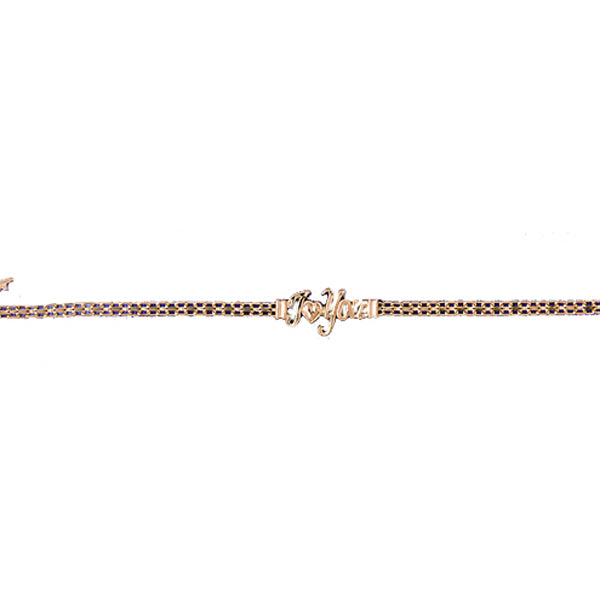14k Yellow Gold I love You Bracelet