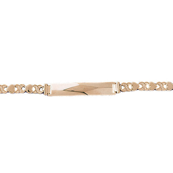 14k Yellow Gold xoxo ID Bracelet