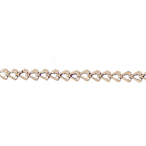 14k Yellow Gold Heart Nugget Bracelet with a safety clasp