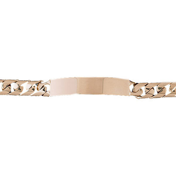 14k Yellow Gold ID Link Bracelet