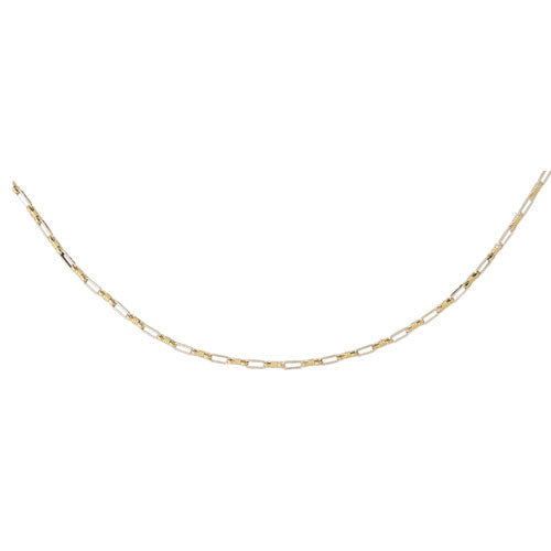 Two Tone 14k Gold Link Necklace