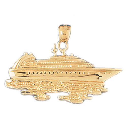 14k Yellow Gold Cruise Ship Charm