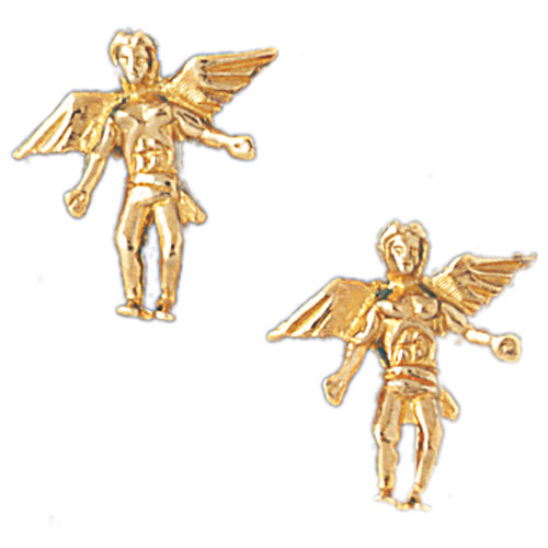 14k Yellow Gold Post Earrings