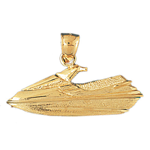 14k Yellow Gold Jet Ski Charm