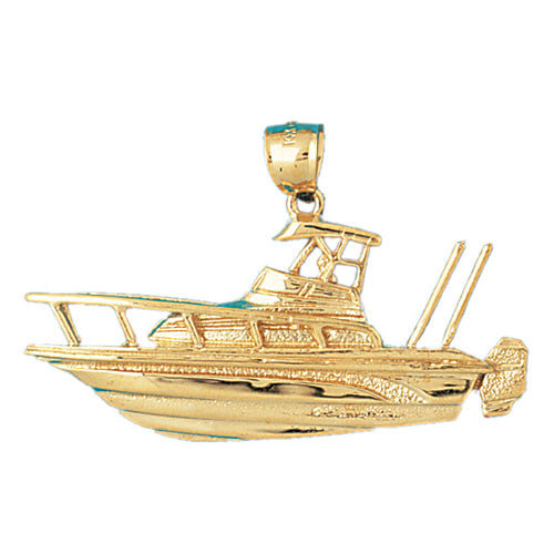 14k Yellow Gold Yatch Charm
