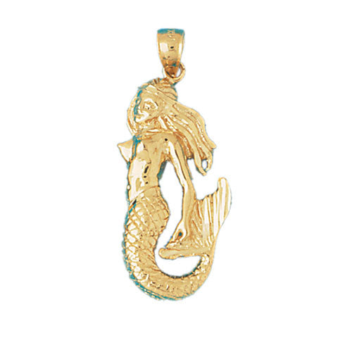 14k Yellow Gold Mermaid Charm
