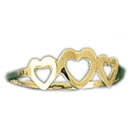 14k Yellow Gold Light Heart Ring