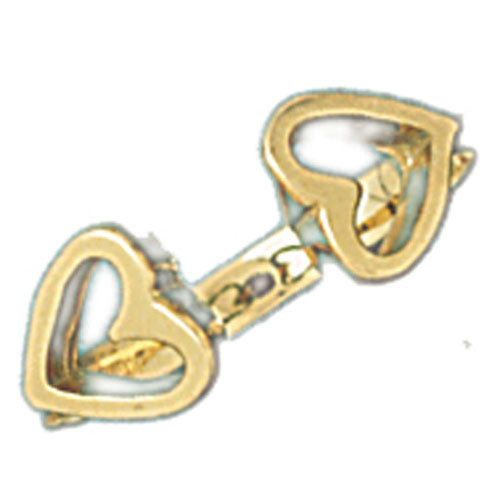 14k Yellow Gold Heart Ladies Ring