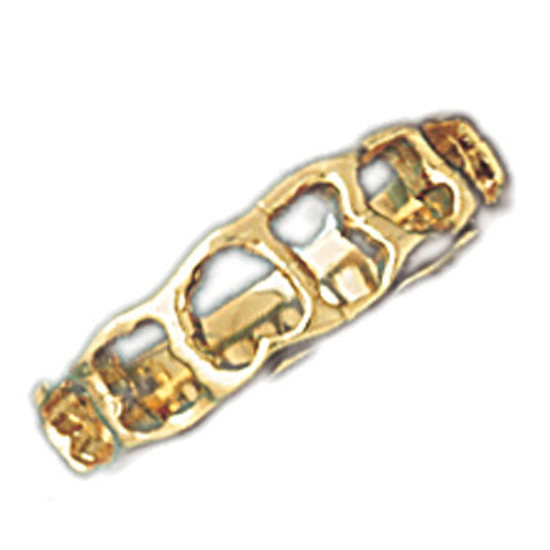 14k Yellow Gold Fancy Ladies Ring