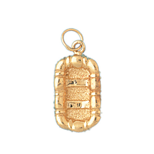 14k Yellow Gold 3-D Raft Charm