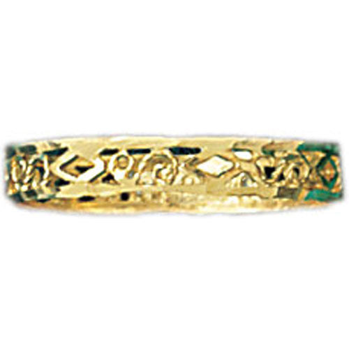 14k Yellow Gold Filigree Band