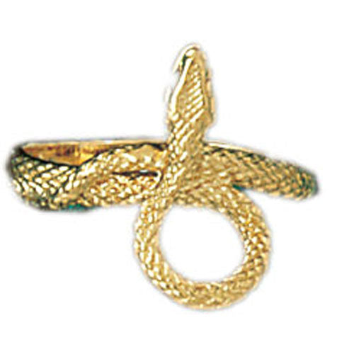 14k Yellow Gold Snake Ring