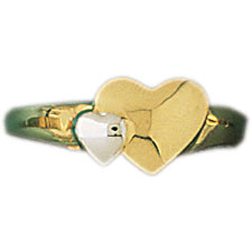 14k Yellow Gold Heart Ring
