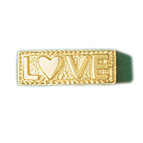 14k Yellow Gold Love Band