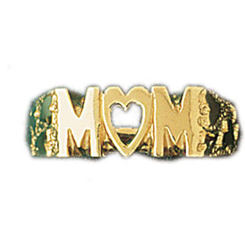 14k Yellow Gold Mom Band