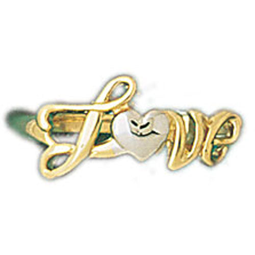 14k Yellow Gold Love Ring