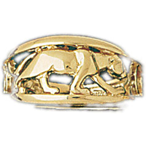 14k Yellow Gold Dolphin Ring Size 7