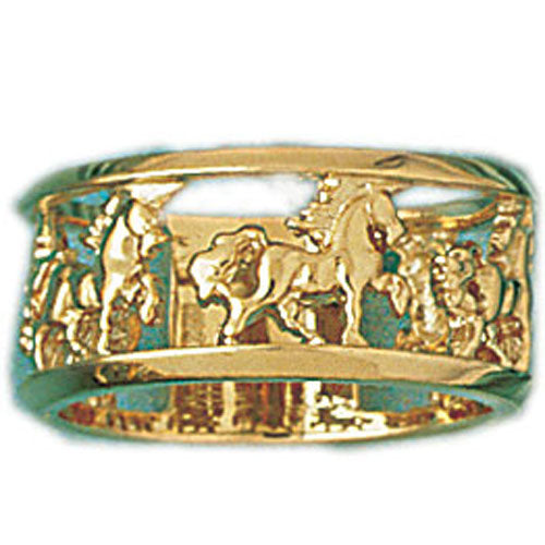 14k Yellow Gold Carousel Ring