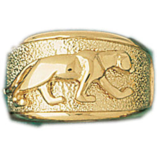 14k Yellow Gold Tiger Dome Ring