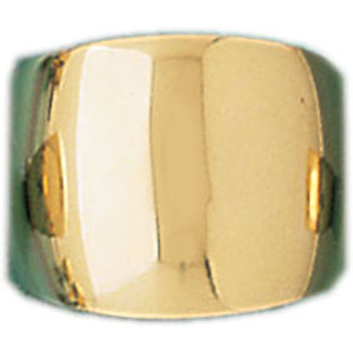 14k Yellow Gold Dome Ring