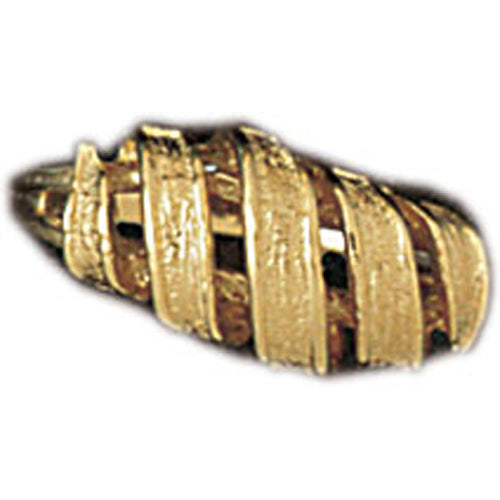 14k Yellow Gold Fashionable Pattern Ring