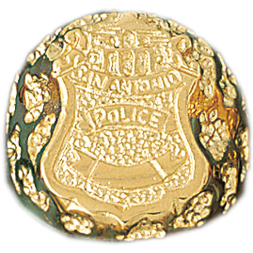 14k Yellow Gold San Antonio Police Ring
