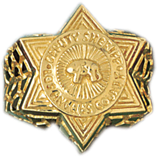 14k Yellow Gold Los Angeles County Sheriff Deputy Ring