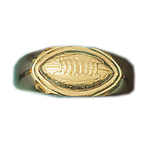 14k Yellow Gold Football Ring