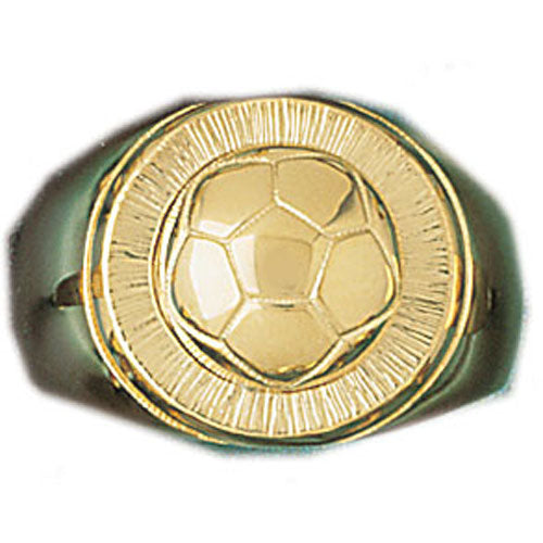 14k Yellow Gold Soccer Ring