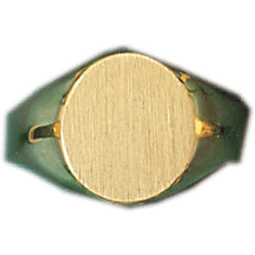 14k Yellow Gold Signet Ring