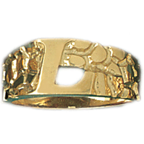 14k Yellow Gold Initial L Ring